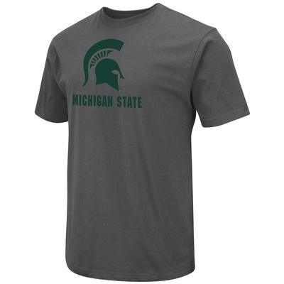 Michigan State Colosseum Big Logo Over School Short Sleeve Tee