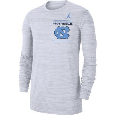 UNC Jordan Brand Men's Dri-Fit Velocity Sideline Long Sleeve Tee