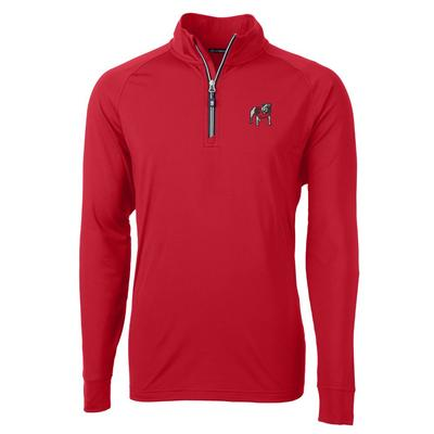 Georgia Cutter and Buck Adapt Eco Knit 1/4 Zip Pullover