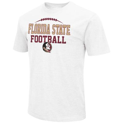 Florida State Colosseum Laces Over Logo Short Sleeve Tee