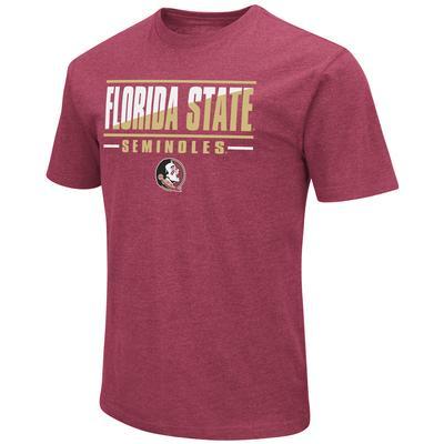 Florida State Colosseum Diagonal Over Logo Short Sleeve Tee