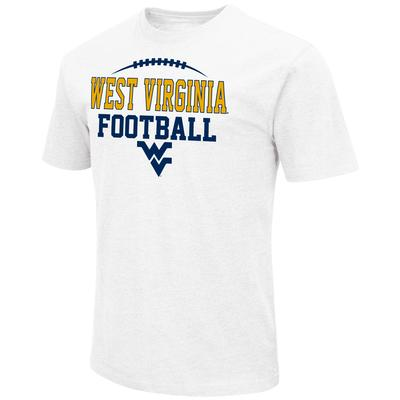 West Virginia Colosseum Laces Over Logo with Stack Short Sleeve Tee