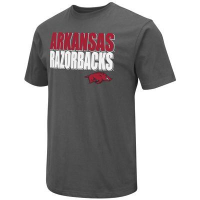 Arkansas Colosseum Team Over Logo Stack Short Sleeve Tee