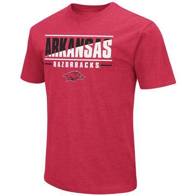 Arkansas Colosseum Diagonal Over Logo Short Sleeve Tee