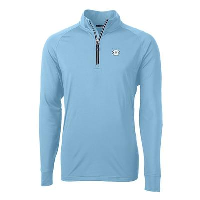 UNC Cutter And Buck Adapt Eco Knit 1/4 Zip Pullover