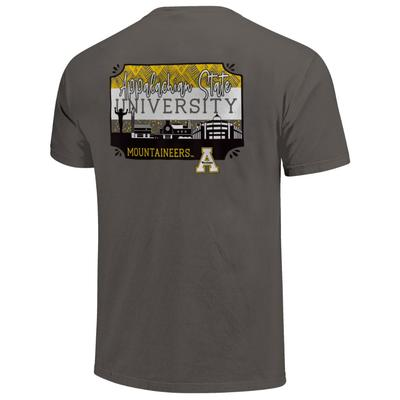 Appalachian State Campus Skyline Pattern Comfort Colors Tee