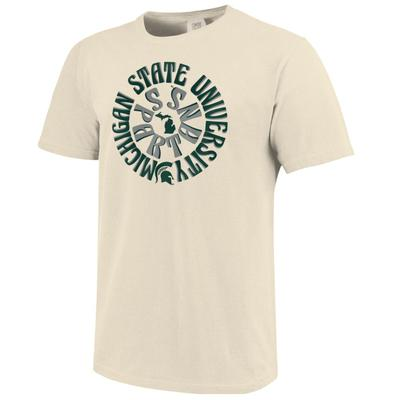 Michigan State Retro Rounds Short Sleeve Comfort Colors Tee