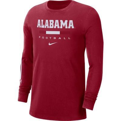 Alabama Nike Men's Football Long Sleeve Tee