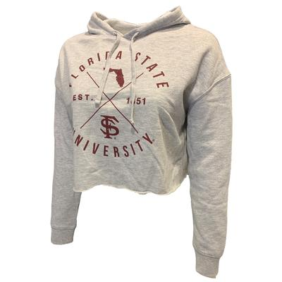 Florida State Uscape X Arch Crop Hoodie