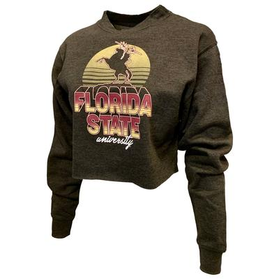 Florida State Uscape Oversize Crop Neon Sign Crew
