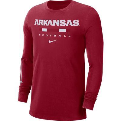 Arkansas Nike Men's Football Long Sleeve Tee