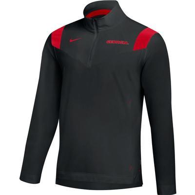 Georgia Nike Men's Lightweight Coaches Pullover