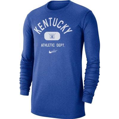 Kentucky Nike Men's Textured Arch Long Sleeve Tee