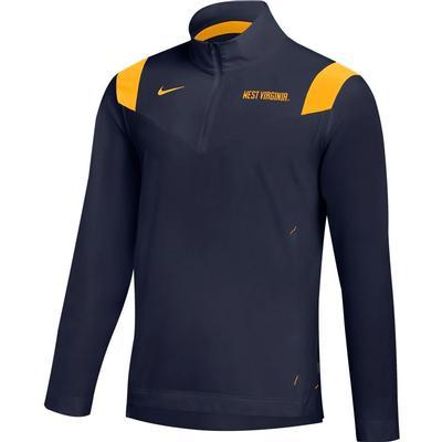 West Virginia Nike Men's Lightweight Coaches Pullover