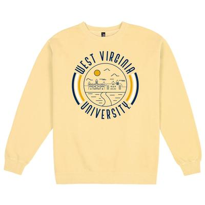 West Virginia Uscape Pigment Dyed Crew