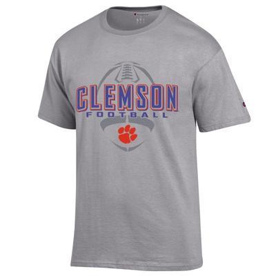 Clemson Champion Men's Wordmark Football Tee