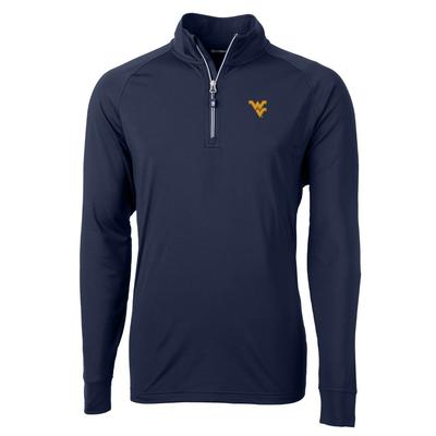 West Virginia Cutter And Buck Adapt Eco Knit 1/4 Zip Pullover