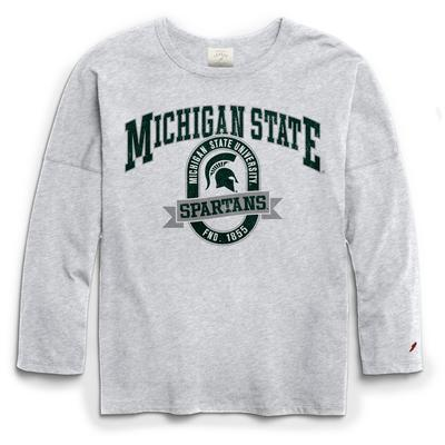 Michigan State League Clothesline Oversized Long Sleeve Tee