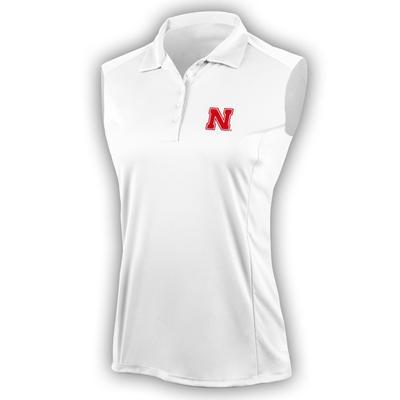 Nebraska Antigua Women's Sleeveless Tribute Polo