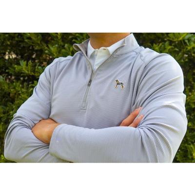 Tennessee Volunteer Traditions Bluetick Stripe 1/4 Zip Pullover