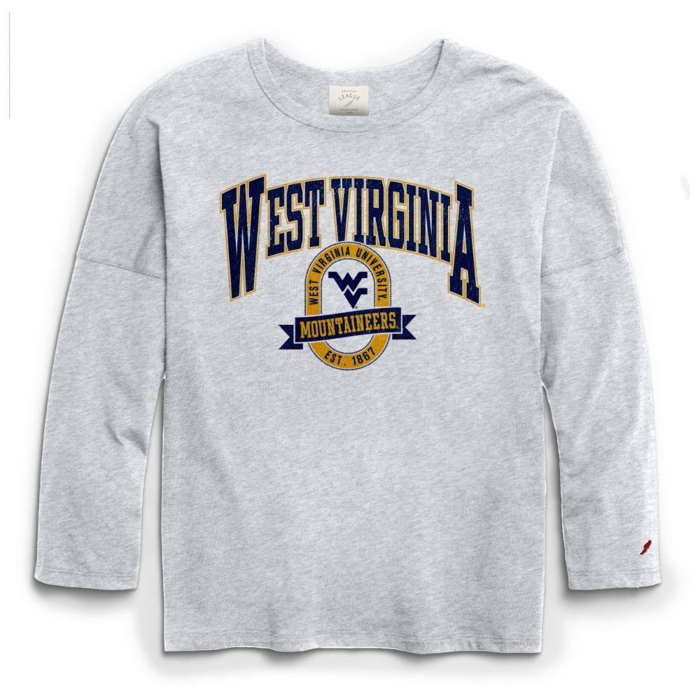 West Virginia League Clothesline Oversized Long Sleeve Tee