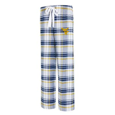 West Virginia College Concepts Women's Accolade Flannel Pant
