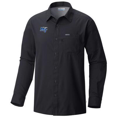 MTSU Columbia Men's Slack Tide Long Sleeve Woven Shirt
