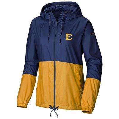ETSU Columbia Women's Flash Forward Wind Breaker Jacket