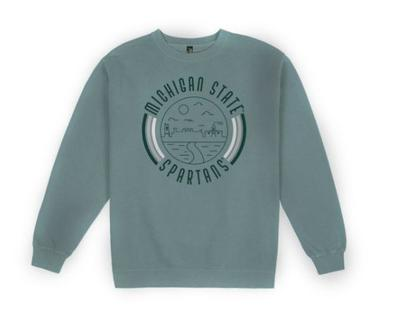 Michigan State Uscape Pigment Dyed Crew