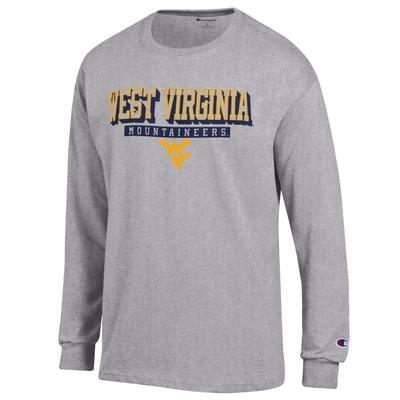 West Virginia Champion Straight Stack Long Sleeve Tee