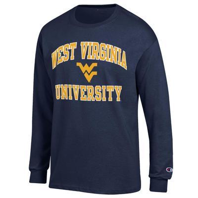 West Virginia Champion Arch Logo Long Sleeve Tee
