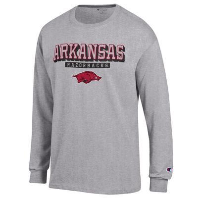 Arkansas Champion Straight Stack Long Sleeve Tee