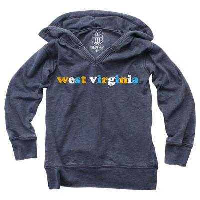 West Virginia Wes and Willy YOUTH Burn Out Long Sleeve Hoodie