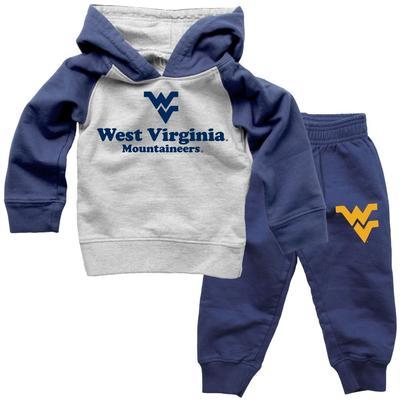 West Virginia Infant Fleece Hoodie and Pants Set