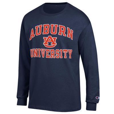 Auburn Champion Arch Logo Long Sleeve Tee
