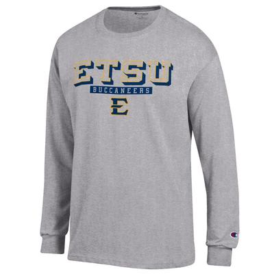 ETSU Champion Straight Stack Long Sleeve Tee