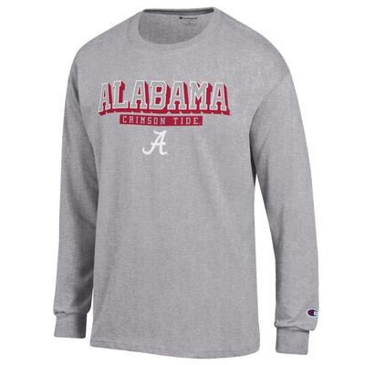 Alabama Champion Straight Stack Long Sleeve Tee