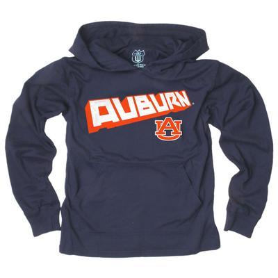 Auburn YOUTH Angled Long Sleeve Hooded Tee