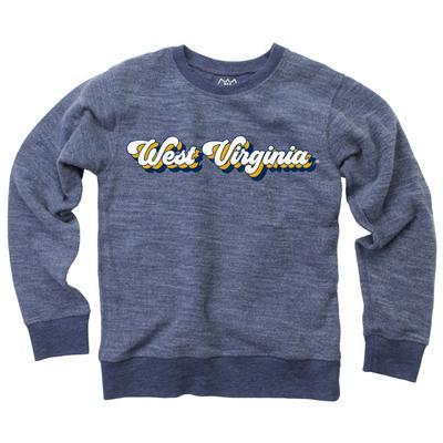 West Virginia YOUTH Reverse Fleece Long Sleeve Pullover