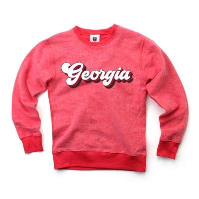 Georgia Kids Reverse Fleece Long Sleeve Pullover