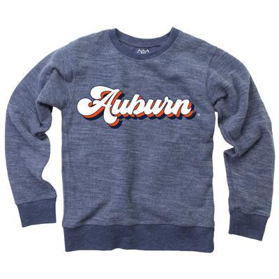 Auburn YOUTH Reverse Fleece Long Sleeve Pullover