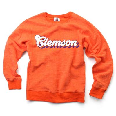 Clemson YOUTH Reverse Fleece Long Sleeve Pullover