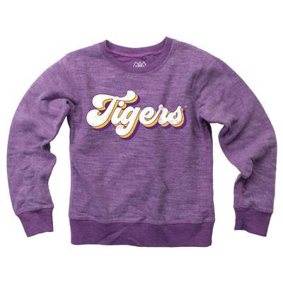LSU YOUTH Reverse Fleece Long Sleeve Pullover