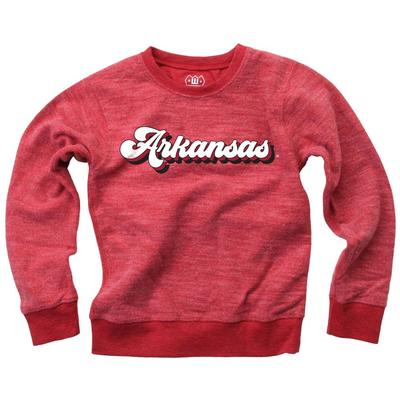 Arkansas YOUTH Reverse Fleece Long Sleeve Pullover