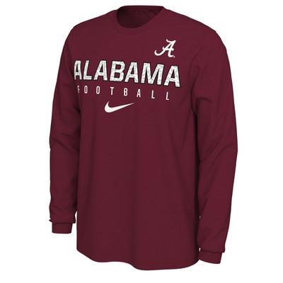 Alabama Football Nike Cotton Long Sleeve Tee