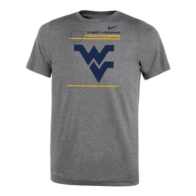 West Virginia Nike YOUTH Dri-Fit Legend 2.0 Short Sleeve Tee