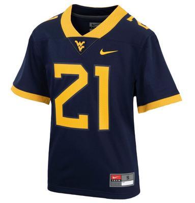 West Virginia Nike YOUTH Replica #21 Football Jersey