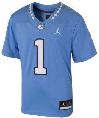 UNC Jordan Brand YOUTH Replica #1 Football Jersey