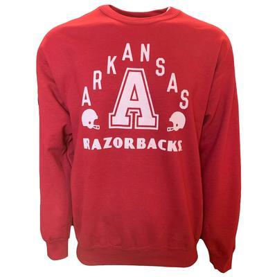 Arkansas B Unlimited Razorbacks Football Crew Sweatshirt