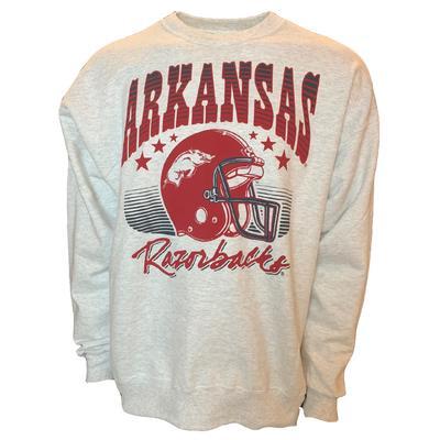 Arkansas Razorbacks B Unlimited Throwback Crew Sweatshirt